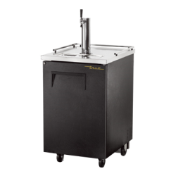 True Mfg Draft Beer Cooler, (1) 1/2 barrel capacity, stainless steel counter top, black v