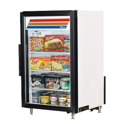 True Mfg Countertop Freezer Merchandiser, (3) shelves, -10° F, laminated vinyl exterior,
