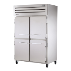 True Mfg SPEC SERIES® Refrigerator, Reach-in, two-section, stainless steel front & sides,