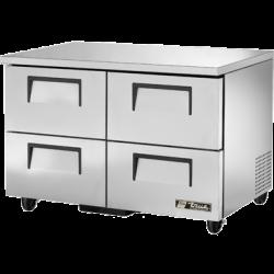 True Mfg Undercounter Freezer, -10° F, stainless steel top & sides, white aluminum interi
