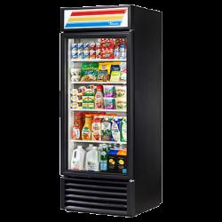 True Mfg Refrigerated Merchandiser, one-section, (4) shelves, laminated vinyl exterior, w