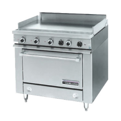 "Garland 36E Series Heavy Duty Range, electric, 36"" fry top section with thermostats, sta"
