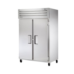 True Mfg Refrigerator, Reach-in, two-section, stainless steel front, aluminum sides, (2)