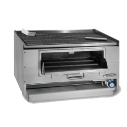 "Imperial Mesquite Wood Broiler, 30"", countertop, cast-iron top grates, built-in gas log l"