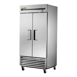 True Mfg Freezer, Reach-in, -10° F, two-section, stainless steel doors, stainless steel f