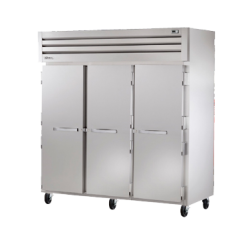 True Mfg SPEC SERIES® Freezer, Reach-In, -10°F, three-section, stainless steel front, alu