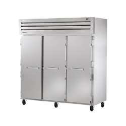 True Mfg SPEC SERIES® Freezer, Reach-In, -10°F, three-section, stainless steel front & si