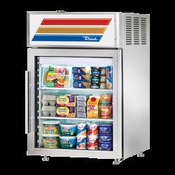 True Mfg Countertop Pass-thru Refrigerated Merchandiser, (2) shelves, stainless steel ext