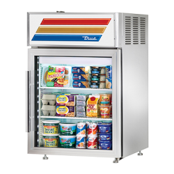 True Mfg Countertop Pass-thru Refrigerated Merchandiser, (2) shelves, stainless steel ext