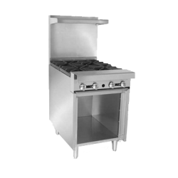 "Imperial Diamond Series Heavy Duty Range, gas, 24"", Add-A-Unit, (4) open burners, wavy ca"