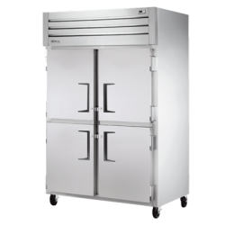 True Mfg Refrigerator, Reach-in, +33°F to +38°F temperature range, two-section, self-cont