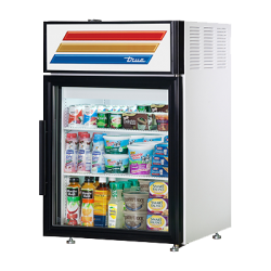 True Mfg Countertop Refrigerated Merchandiser, (2) shelves, laminated vinyl exterior, whi