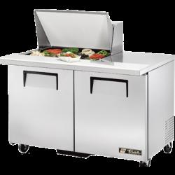 "True Mfg Mega Top Sandwich/Salad Unit, (12) 1/6 size (4""D) poly pans, stainless steel ins"