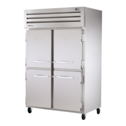 True Mfg SPEC SERIES® Refrigerator, Reach-in, two-section, stainless steel front, aluminu