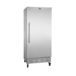 Kelvinator Reach-In Freezer, one-section, 18 cubic feet capacity, gray cabinet, right hinge