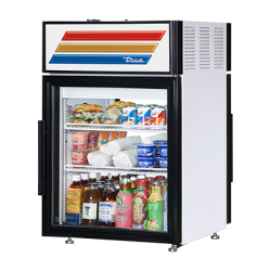 True Mfg Countertop Pass-thru Refrigerated Merchandiser, (2) shelves, laminated vinyl ext