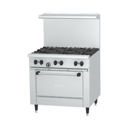 Garland Sunfire® Restaurant Range, gas, 36, (6 30,000 BTU open burners, with cast iron t