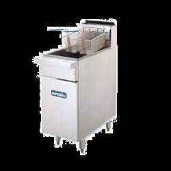 Imperial Restaurant Series Range Match Fryer, gas, floor model, 40lb. capacity, tube fire
