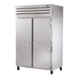 True Mfg SPEC SERIES® Refrigerator, Reach-in, two-section, stainless steel front/sides, (