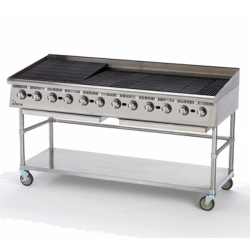 "Star Mfg Ultra-Max® Charbroiler, gas, 72""L, 30-5/8""D, 18""H, steel radiants, adjustable ma"