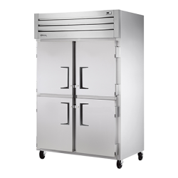 True Mfg Freezer, Reach-in, -10°F, two-section, stainless steel front, aluminum sides, (4