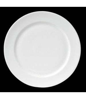 "Plate, 6-1/2"" dia. (4-1/8"" well), round, flat, porcelain, Tria, Simple Plus (min"