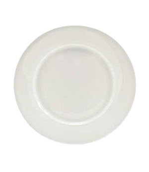 "(0100) Fusion Plate, 10-3/4"" dia. (27.15 cm), wide rim, bone china, microwave sa"