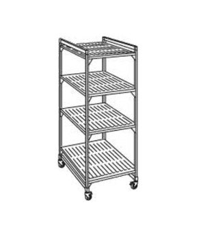 "Camshelving® Elements Mobile Starter Unit, 18""W x 36""L x 70""H, 4 shelf, withstan"