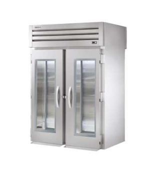 SPEC SERIES® Roll-thru Refrigerator, stainless steel front & sides, (2) glass do
