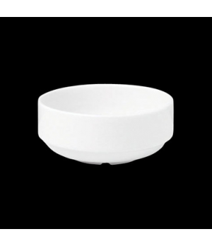 "Bowl, 8 oz., 4"" dia. x 1-3/4""H, round, stackable, porcelain, Tria, Simple Plus ("