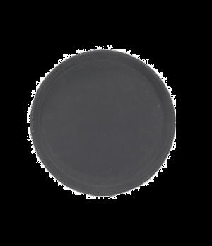 "Serving Tray, 11"" dia., anti-slip rubber coating, fiberglass, black"