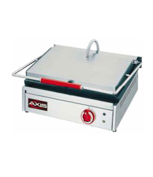 "Axis Panini Toaster, single, 15"" W x 14.2"" x D x 10.6"" H, all stainless steel ex"