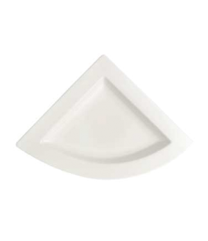 "Plate, 8-2/3"" x 8-5/8"", triangular, premium porcelain, New Wave"