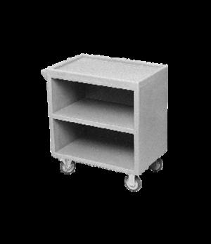 Service Cart, enclosed base three sides, three shelves, shelf size approximately