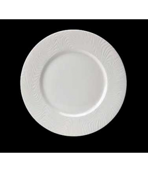 "Plate, 10"" dia. (6"" well), round, wide rim, Distinction, Optik™ (USA stock item)"