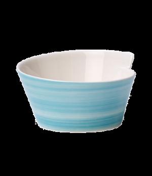Bowl, 12-1/2 oz., free form, premium porcelain, Amarah Aquamarine