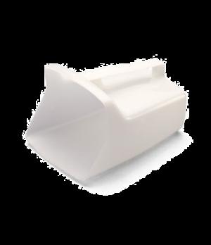 Utility Scoop, 64 oz., smooth surface, dishwasher safe, white polyethylene