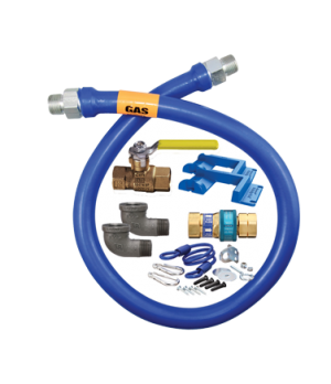 """Blue Hose™ Moveable Gas Connector Kit, 1"""" inside dia., 24"""" long, covered with st"""