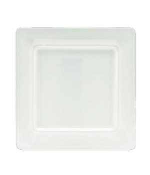 "(0100) Fusion Plate, 10-3/4"" (27.5 cm), square, wide rim, bone china, microwave"