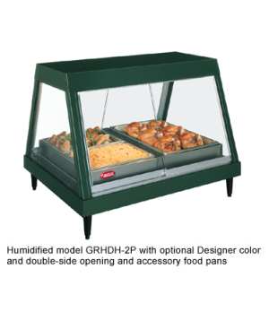Glo-Ray® Heated Display Case, countertop, glass front design, (2) pan single she