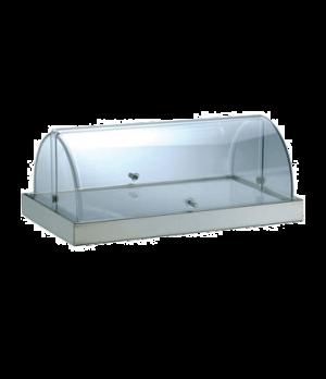 "Cheese Dish, 19.7""L x 11.8""W (50 x 30 cm), rectangular, deep tray, transparent r"
