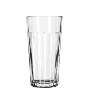 "Tumbler, 24 oz., glass, paneled, DuraTuff®, (H 7""; T 3-3/4""; B 2-7/8""; D 3-3/4"")"