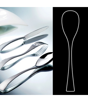 "Serving Spoon, 9-5/8"", stainless steel, La Tavola, New Wave (USA stock item) (mi"