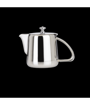 Teapot, 17 oz., with lid, 18/10 stainless steel, WNK, Kamina (USA stock item) (m