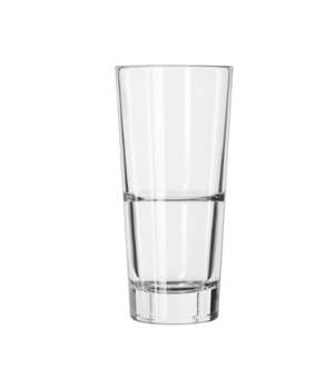 "Beverage Glass, 14 oz., DuraTuff®, ENDEAVOR™, (H 6-5/8""; T 3-1/8""; B 2-1/4""; D 3"