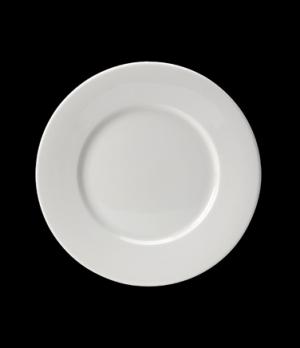 "Plate, 10"" dia. (6"" well), round, wide rim, Distinction, Monaco (USA stock item)"