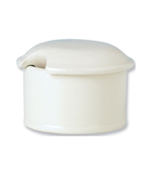 Mustard/Dipper Pot Base, with lid, vitrified china, Performance, Ivory, Claret (