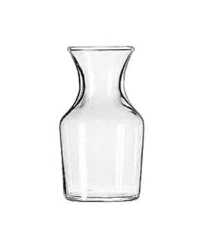 "Cocktail Decanter/Bud Vase, 4-1/8 oz., glass, (H 3-7/8""; T 1-3/4""; B 1-7/8""; D 2"