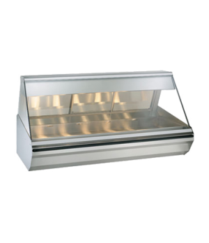 "Halo Heat® Heated Display Case, countertop, 72"" L, self-service, half flat glass"