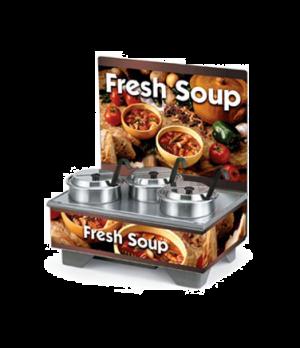 Cayenne® 72020 Full Size Rethermalizing Model 1220 Soup Merchandiser Base, flush